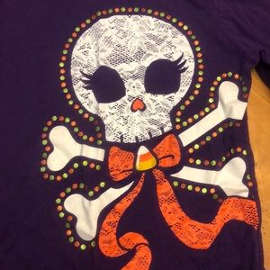 Children's Place Purple Halloween Skeleton Shirt